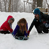 The kids were enjoying the falling snow while sledding at Mounds Park last weekend.<br /> <br /> Photographer's Name: Jerry Byard<br /> Photographer's City and State: Anderson, Ind.