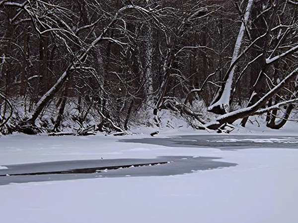 Starting the thaw along the White River.<br /> <br /> Photographer's Name: J.R. Rosencrans<br /> Photographer's City and State: Alexandria, Ind.