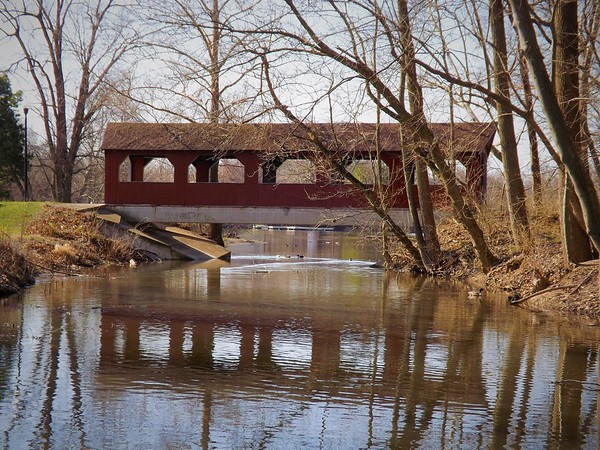 Covered bridges of Madison County...photo taken at Shadyside  Park.<br /> <br /> Photographer's Name: J.R. Rosencrans<br /> Photographer's City and State: Alexandria, Ind.