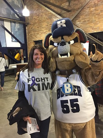 Julie Dworek of Pendleton shows her Bulldog pride and support for Kim McDermott.<br /> <br /> Photographer's Name: Julie Dworek <br /> Photographer's City and State: Anderson, Ind.