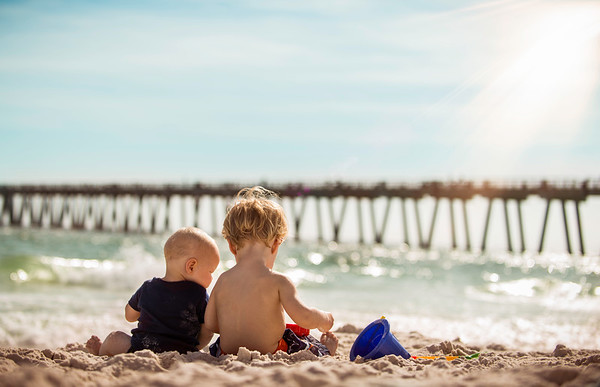 My grandsons Eaton and Lias Ayers enjoying Navarre Beach in Florida.<br /> <br /> Photographer's Name: Terry Lynn  Ayers<br /> Photographer's City and State: Anderson, Ind.