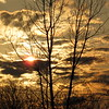 A recent sunset.<br /> <br /> Photographer's Name: Harry Van Noy<br /> Photographer's City and State: Lafayette Township, Ind.