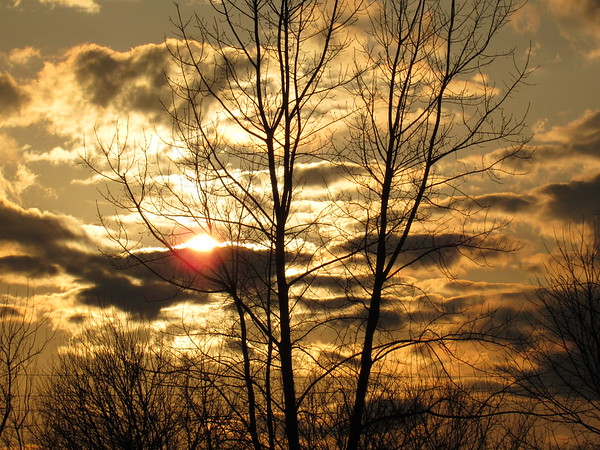 The sunset, in late February<br /> <br /> Photographer's Name: Harry Van Noy<br /> Photographer's City and State: Lafayette Township, Ind.