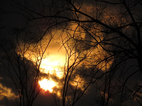 Late March sunset, seen from Anderson.<br /> <br /> Photographer's Name: Harry Van Noy<br /> Photographer's City and State: Lafayette Township, Ind.
