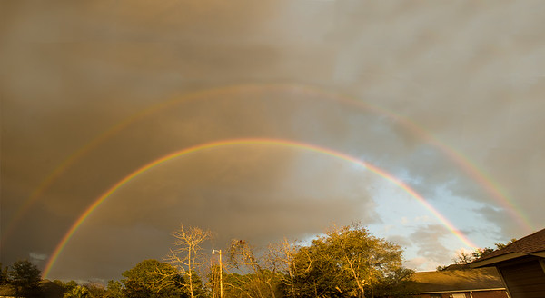 Double rainbow a couple weeks ago<br /> <br /> Photographer's Name: Terry Lynn  Ayers<br /> Photographer's City and State: Anderson, Ind.