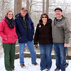 Some friends were enjoying a hike to view the skunk cabbage with the Naturalist Riley at Mounds Park.<br /> <br /> Photographer's Name: Jerry Byard<br /> Photographer's City and State: Anderson, Ind.