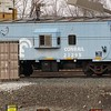 A powder blue caboose!<br /> <br /> Photographer's Name: Harry Van Noy<br /> Photographer's City and State: Lafayette Township, Ind.