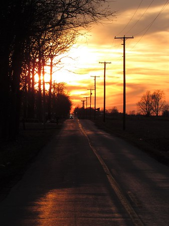 Sunset seen off Hartman Road.<br /> <br /> Photographer's Name: Harry Van Noy<br /> Photographer's City and State: Lafayette Township, Ind.