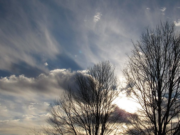 Clouds on a cold, late February day in Madison County.<br /> <br /> Photographer's Name: Harry Van Noy<br /> Photographer's City and State: Lafayette Township, Ind.