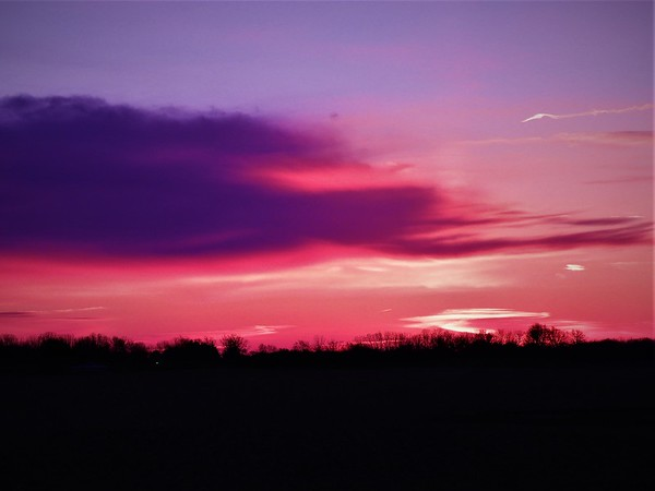"""""""Red Dawn"""" in Richland Township.<br /> <br /> Photographer's Name: J.R. Rosencrans<br /> Photographer's City and State: Alexandria, Ind."""