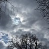 The sun peeking through the clouds on a cold early March day.<br /> <br /> Photographer's Name: Harry Van Noy<br /> Photographer's City and State: Lafayette Township, Ind.