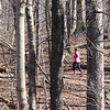 A colorful jogger on Trail Five at Mounds Park on a pretty morning.<br /> <br /> Photographer's Name: Jerry Byard<br /> Photographer's City and State: Anderson, Ind.