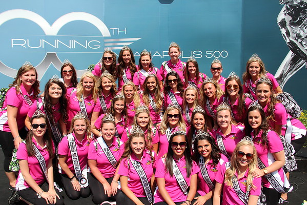 The 2015 Indy 500 Festival Princesses.<br /> <br /> Photographer's Name: Madeline May<br /> Photographer's City and State: Pendleton, Ind.