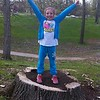 My granddaughter Lilly McIntyre celebrating spring at Shadyside Park. <br /> <br /> Photographer's Name: Tina Snyder<br /> Photographer's City and State: Anderson, Ind.