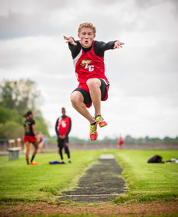 "My son Dawson Ayers sets his personal record of 19' 4.5"" at a Liberty Christian track meet.<br /> <br /> Photographer's Name: Terry Lynn Ayers<br /> Photographer's City and State: Anderson, Ind."