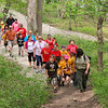 A group of students from Liberty Christian School enjoyed a nature hike at Mounds Park with naturalist Leah Perry.<br /> <br /> Photographer's Name: Jerry Byard<br /> Photographer's City and State: Anderson, Ind.