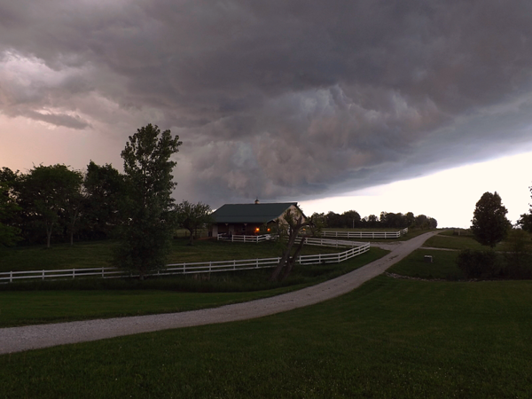 Spring thunderstorm at my farm in Richland Township.<br /> <br /> Photographer's Name: J.R. Rosencrans<br /> Photographer's City and State: Alexandria, Ind.