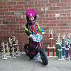 My cousin's daughter Alise, 2, on her Strider bike with some of her and her brother's trophies. <br /> <br /> Photographer's Name: Nicole Winkler<br /> Photographer's City and State: Anderson, Ind.