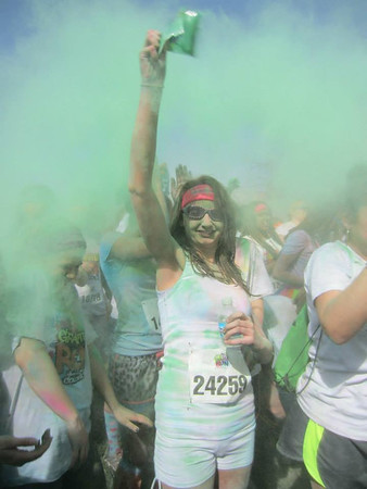 Graffiti Run at the Indianapolis Fairgrounds. Fun with the colors!<br /> <br /> Photographer's Name: Janet Hoffman<br /> Photographer's City and State: Frankton, Ind.