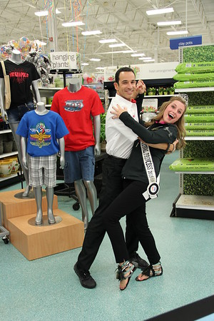Pendleton grad and 500 Festival Princess Madeline May with Helio Castroneves, three-time Indy 500 and 2007 Dancing with the Stars winner. Castroneves had been signing autographs for fans at an Indianapolis Meijer!<br /> <br /> Photographer's Name: Robert  May<br /> Photographer's City and State: Pendleton, Ind.