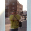 A distorted selfie of myself as I take pictures of the Anderson train station.<br /> <br /> Photographer's Name: Brian  Fox<br /> Photographer's City and State: Anderson, Ind.