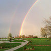 Spring rainbow at my farm in Richland Township.<br /> <br /> Photographer's Name: J.R.  Rosencrans<br /> Photographer's City and State: Alexandria, Ind.