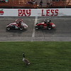 "As the Midgets run around the Anderson Speedway Saturday,  the ""old gray goose"" reminds us that the Little 500 iscoming soon.<br /> Photographer's Name: Sheli Marshall<br /> Photographer's City and State: Middletown, Ind."