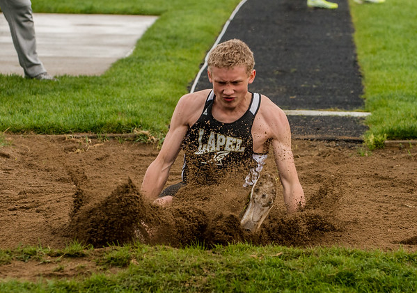 My son Dawson Ayers doing the long jump at the recent Pendleton Invitational.<br /> Photographer's Name: Terry Lynn Ayers<br /> Photographer's City and State: Anderson, Ind.