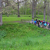 A school group from Frankton learning about the Great Mound at Mounds Park.<br /> <br /> Photographer's Name: Jerry Byard<br /> Photographer's City and State: Anderson, Ind.