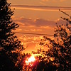 First May Friday sunset. <br /> <br /> Photographer's Name: Harry Van Noy<br /> Photographer's City and State: Lafayette Twp., Ind.