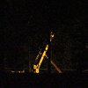 A recent 2 a.m. power crew putting up a new telephone pole.<br /> <br /> Photographer's Name: Harry Van Noy<br /> Photographer's City and State: Lafayette Township, Ind.