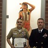 NJROTC Cadet T.D. Kates with LCDR Outcalt during AHS Senior Night Awards Ceremony 5-15-17.<br /> <br /> Photographer's Name: H.A. Pease<br /> Photographer's City and State: Anderson, Ind.