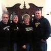 Grandpa, grandma, mom and dad, clad in college sweatshirts.<br /> <br /> Photographer's Name: Paula Burgan<br /> Photographer's City and State: Anderson, Ind.