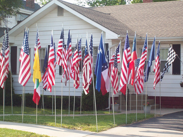 64 flags in our yard on 29th St, Anderson<br /> <br /> Photographer's Name: Chris Swango<br /> Photographer's City and State: Anderson, IN
