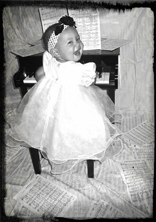 Elliana's first piano.<br /> <br /> Photographer's Name: Jaona Rickard<br /> Photographer's City and State: Anderson, Ind.
