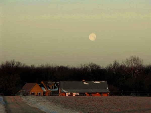 Full moon at the farm in Richland Township.<br /> <br /> Photographer's Name: J.R. Rosencrans<br /> Photographer's City and State: Alexandria, Ind.