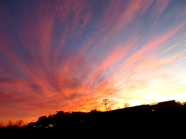 """November sunset on the south side of Anderson: """"Fireworks in the sky.""""<br /> <br /> Photographer's Name: Rita Drews<br /> Photographer's City and State: Anderson, Ind."""