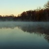 Morning fog at Shadyside Lake.<br /> <br /> Photographer's Name: J.R. Rosencrans<br /> Photographer's City and State: Alexandria, Ind.