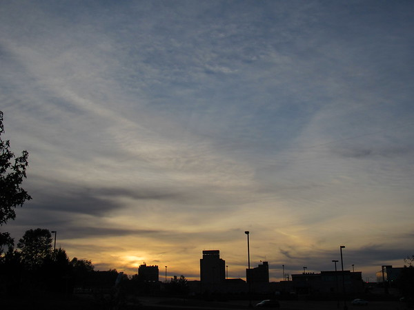 An Anderson October skyline.<br /> <br /> Photographer's Name: Harry Van Noy<br /> Photographer's City and State: Lafayette Township, Ind.