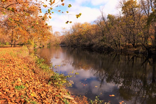 Autumn color on the river...Strawtown.<br /> <br /> Photographer's Name: J.R. Rosencrans<br /> Photographer's City and State: Alexandria, Ind.