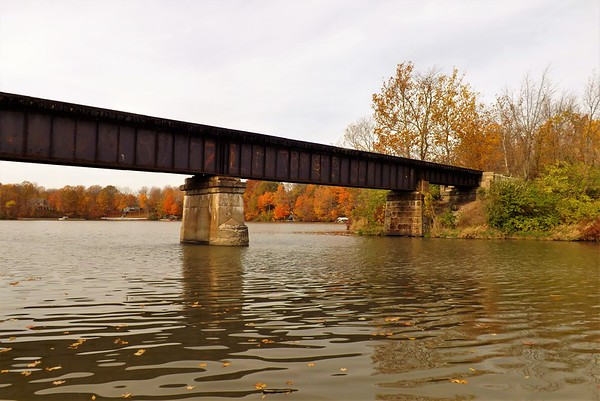 The crossing in autumn at Geist Reservoir.<br /> <br /> Photographer's Name: J.R. Rosencrans<br /> Photographer's City and State: Alexandria, Ind.
