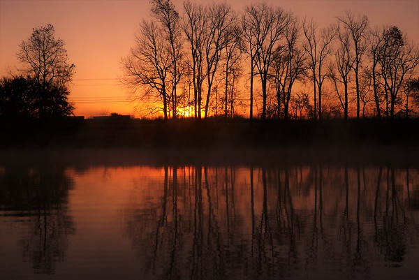November crack of dawn at Shadyside Lake.<br /> <br /> Photographer's Name: J.R. Rosencrans<br /> Photographer's City and State: Alexandria, Ind.