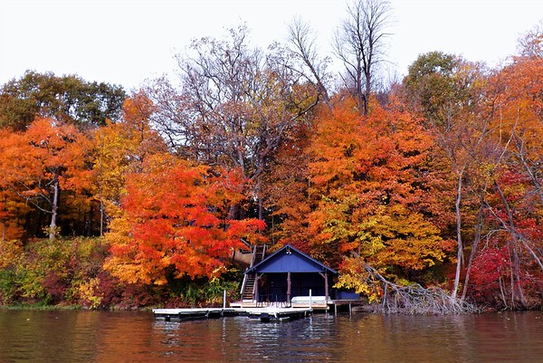 The boat house in natural color at Geist Reservoir.<br /> <br /> Photographer's Name: J.R. Rosencrans<br /> Photographer's City and State: Alexandria, Ind.