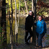 Two gals hiking and enjoying the view of White River at Mounds Park.<br /> <br /> Photographer's Name: Jerry Byard<br /> Photographer's City and State: Anderson, Ind.