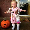 My 4-year-old niece Alisa in her funny Halloween costume.<br /> <br /> Photographer's Name: Nicole Winkler<br /> Photographer's City and State: Anderson, Ind.