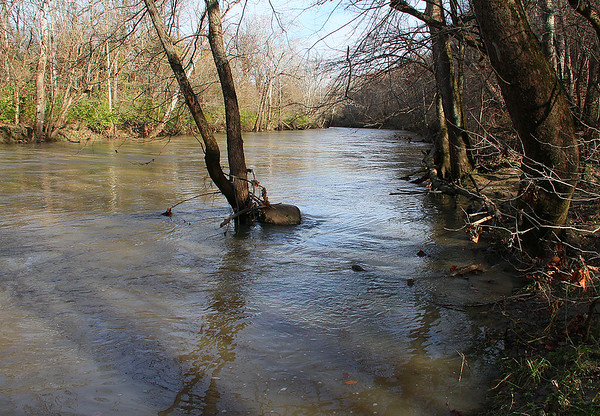 White River is receding at Mounds Park after the recent heavy rain.<br /> <br /> Photographer's Name: Jerry Byard<br /> Photographer's City and State: Anderson, Ind.