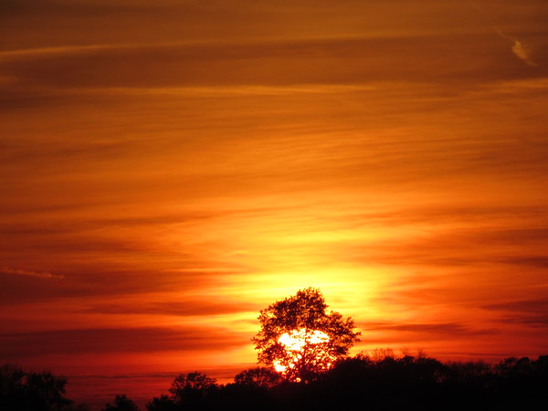 A recent red sky over Madison County.<br /> <br /> Photographer's Name: Harry Van Noy<br /> Photographer's City and State: Lafayette Township, Ind.
