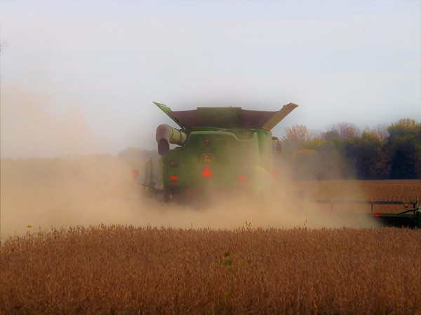 Leave 'em in the dust: Fall harvest in Richland Township.<br /> <br /> Photographer's Name: J.R. Rosencrans<br /> Photographer's City and State: Alexandria, Ind.