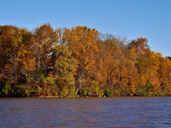 Autumn on the water at Geist Reservoir.<br /> <br /> Photographer's Name: J.R. Rosencrans<br /> Photographer's City and State: Alexandria, Ind.