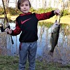 Farm pond fishing with grandson Eli Coxe.<br /> <br /> Photographer's Name: J.R. Rosencrans<br /> Photographer's City and State: Alexandria, Ind.